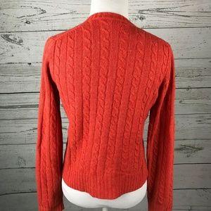 J. Crew Sweaters - J. CREW Vintage Orange Red Cashmere Wool Cardigan